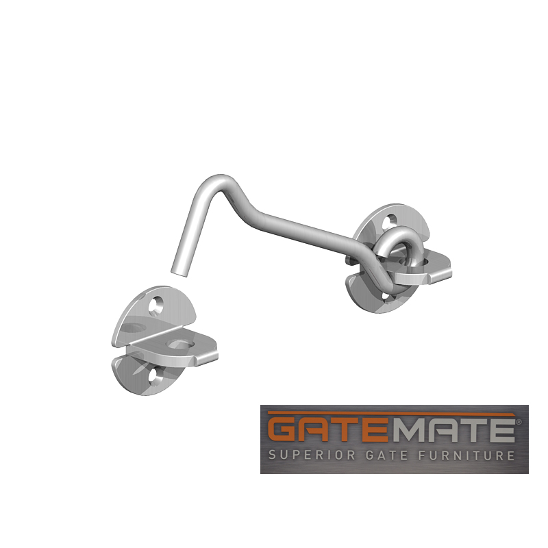 Gatemate Cabin Hook Galvanised, designed for holding back a door or gate