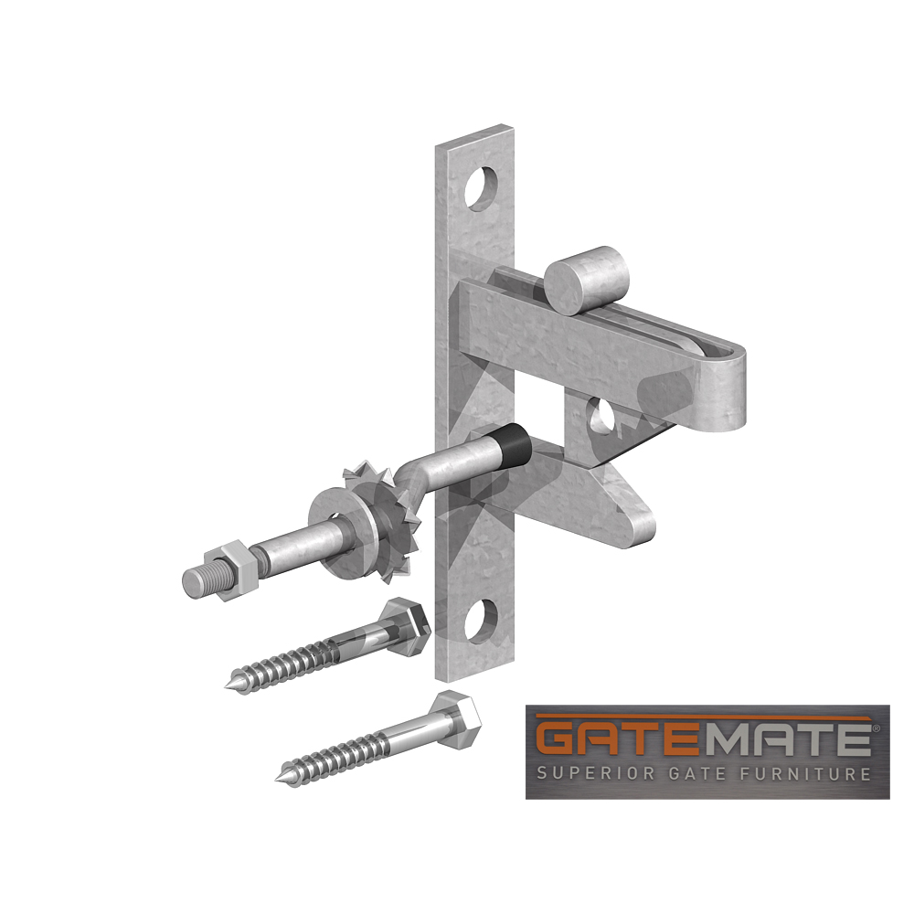 Self Locking Field Gate Latch