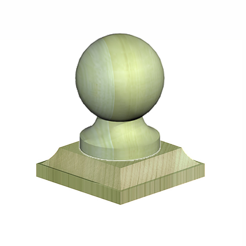 Ball & Collar Post Finial
