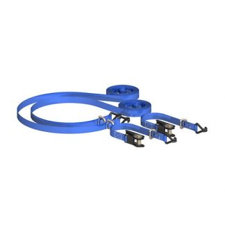 SITEMATE Ratchet Tie Down with Chassis Hooks & D Rings (Pack of 2)